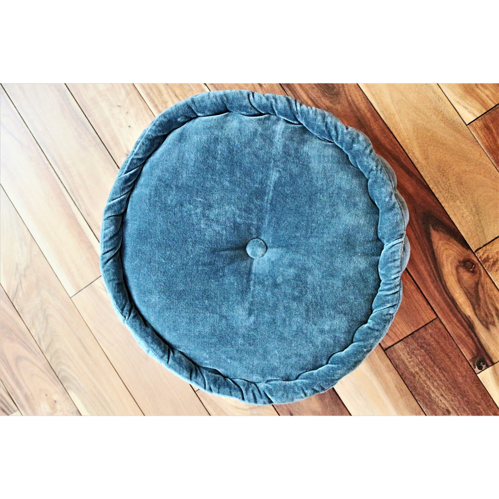 Round Velvet Floor Cushion