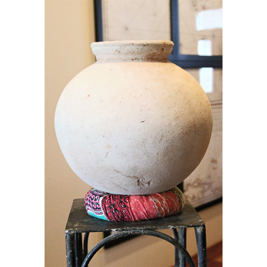 Clay Water Pot With Kantha Base