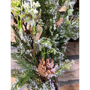 Iced Pine Wreath