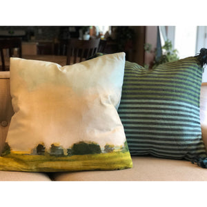 Cotton Landscape Pillow