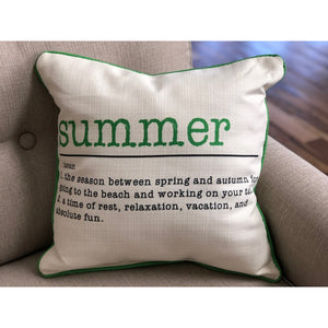 Summer Definition Pillow - Color Options