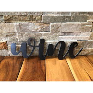 Metal Wine Sign