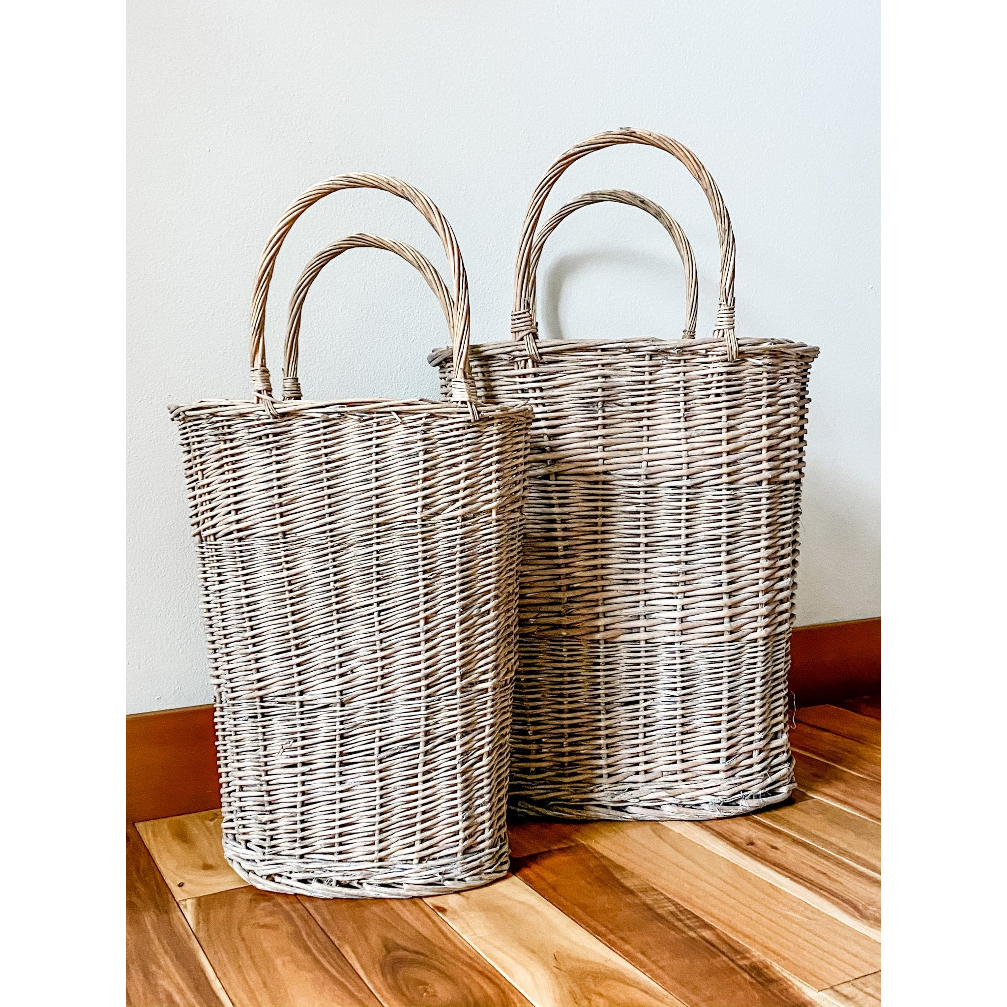 Tall oval wicker baskets - Size options