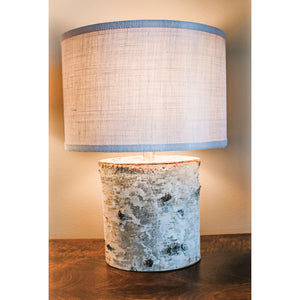 Oval Birch Bark Lamp