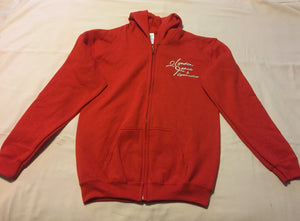 Uniform Hoodie, red with white Lynden logo