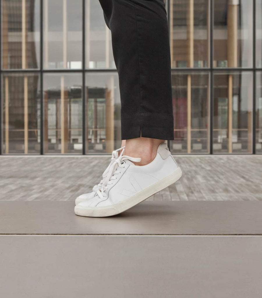VEJA ESPLAR LEATHER SNEAKER, EXTRA-WHITE