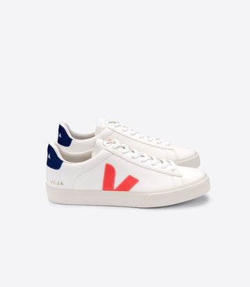 VEJA CAMPO CHROMEFREE WHITE ORANGE-FLUO COBALT
