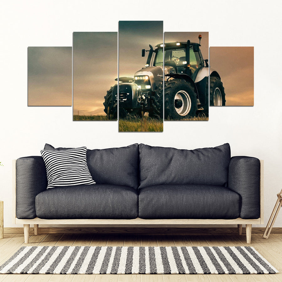 Old Tractor Farmer Canvas