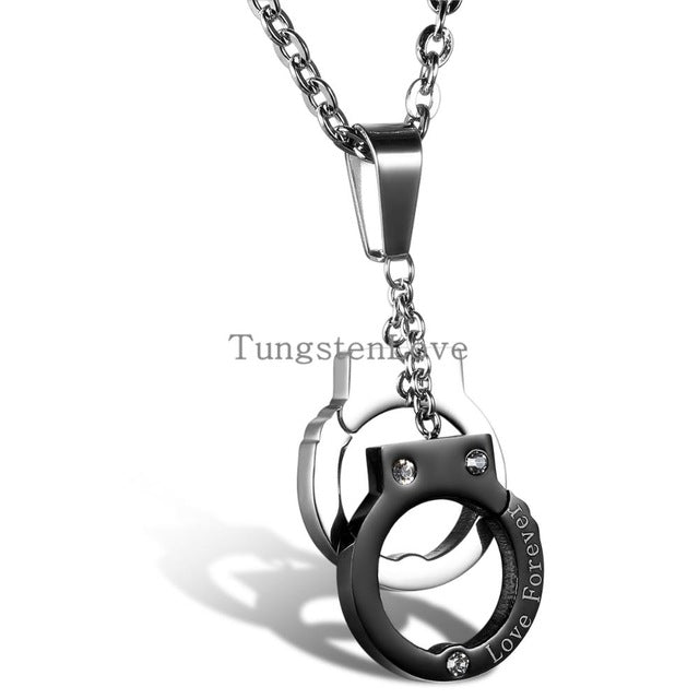 Ateezon - Handcuffs Love Forever Necklace