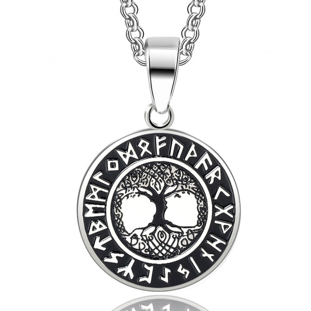 Viking - Tree of Life Runes Nordic Necklace