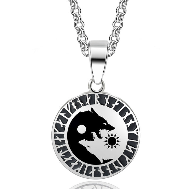 Viking - Yin Yang Wolf Necklace