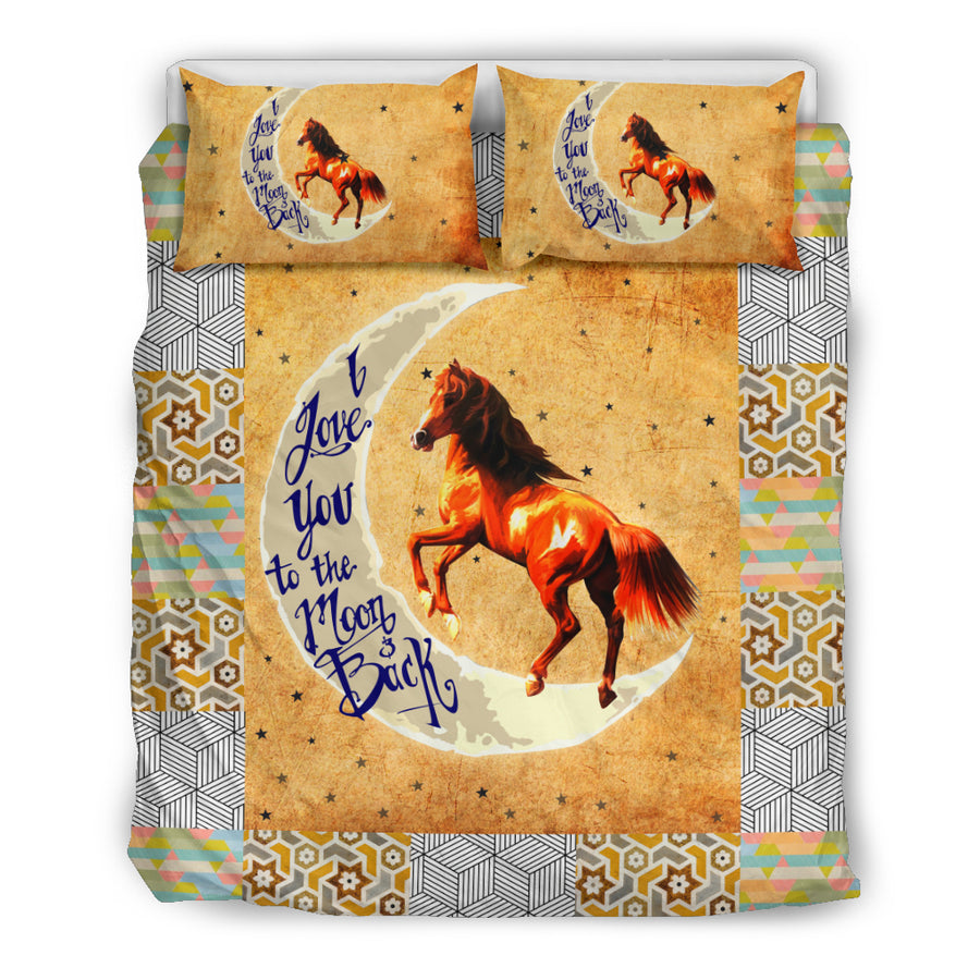 I Love You To The Moon And Back Horse Bedding Set