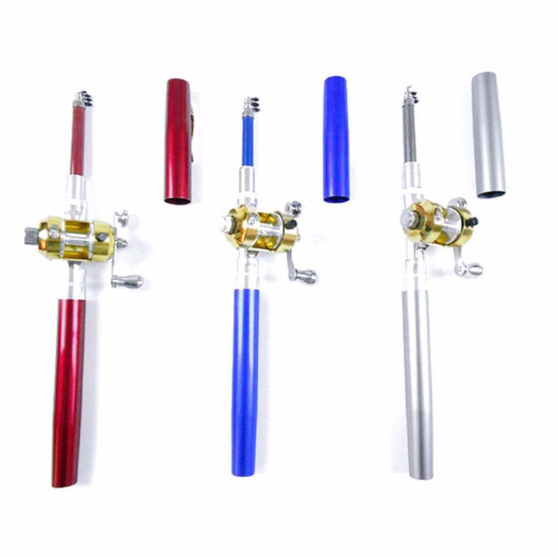Fishing - Portable Pocket Telescopic Mini Pole Pen Fishing Rod