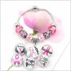 Breast Cancer - Interchangeable DIY Button Bracelet