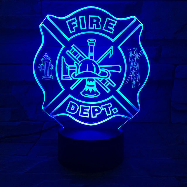 Firefighter - Logo 3D Colors Change LED Night Light