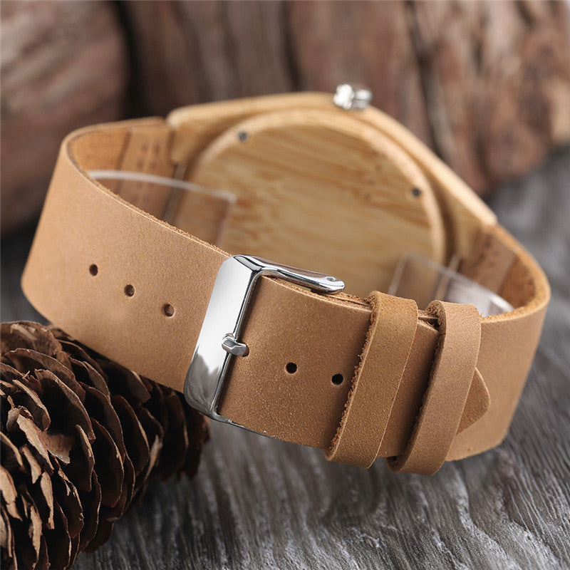 Firefighter - Dial Light Bamboo Wooden Watch