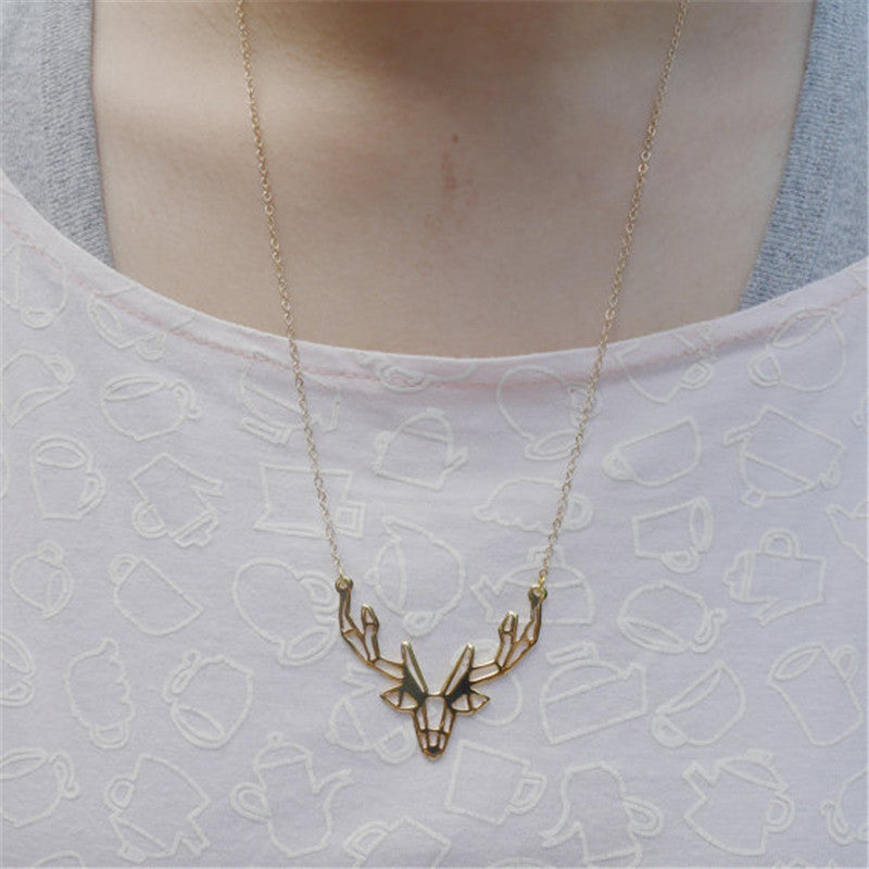 Hunting - Origami Deer Necklace