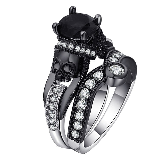Viking - Women Skull Ring Set