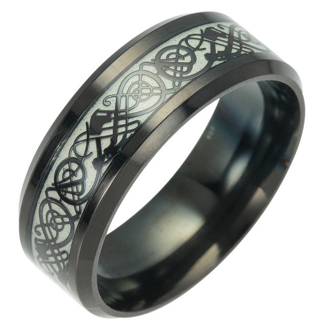 Viking - Glow Dragon Ring - 6 Style Stainless Steel Dragon Ring