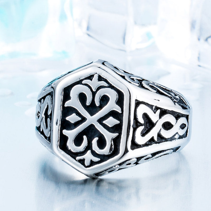 Viking - Thor Ring - Viking Stainless Steel Ring Gothic Pattern Jewelry