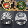 Military - Army / Marine Ring - USA Military Stainless Steel Ring