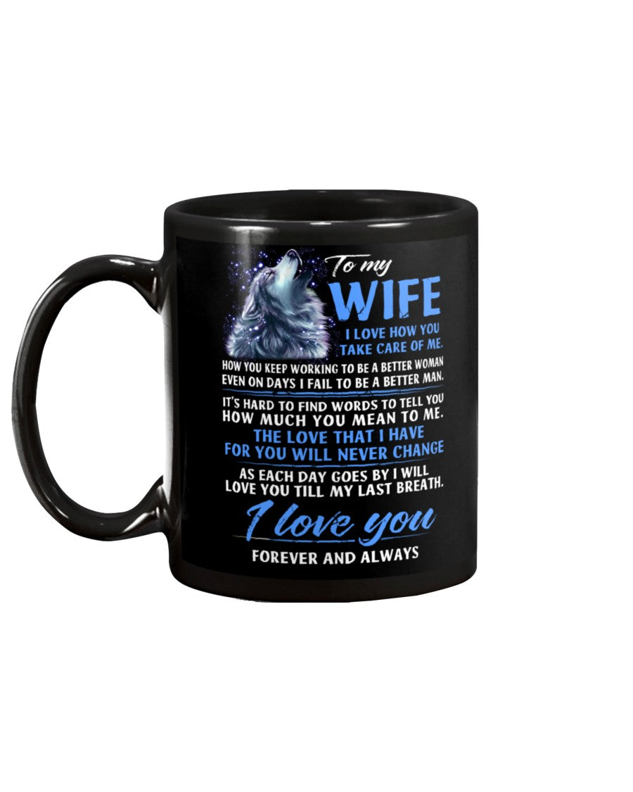 Wolf Take Care Of Me Wife Mug