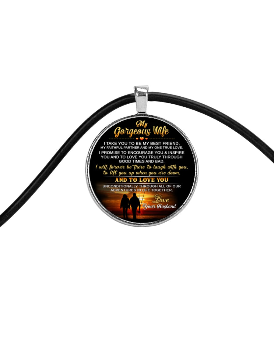 Faithful Partner True Love Wife Fishing Necklace