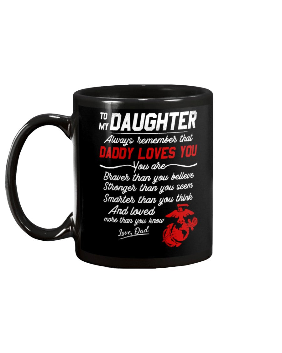 Marine Daughter Dad Daddy Loves You