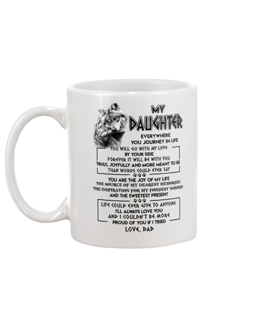 By Your Side Daughter Wolf Mug