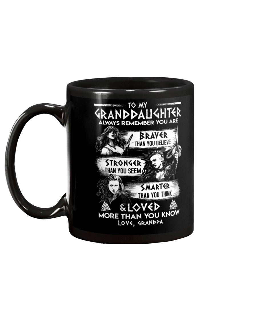 Always Remember Granddaughter Grandpa Viking Mug