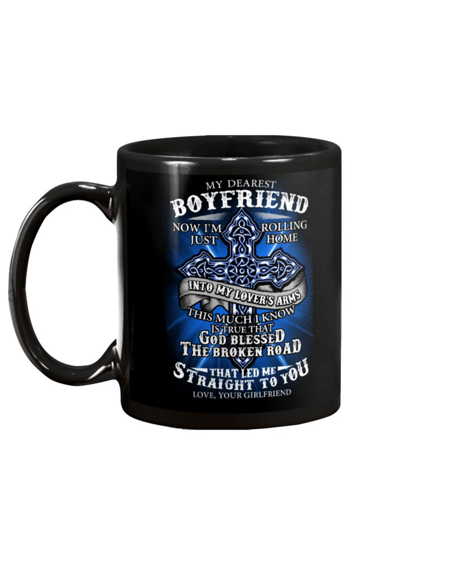Blessed The Broken Road Boyfriend Mug