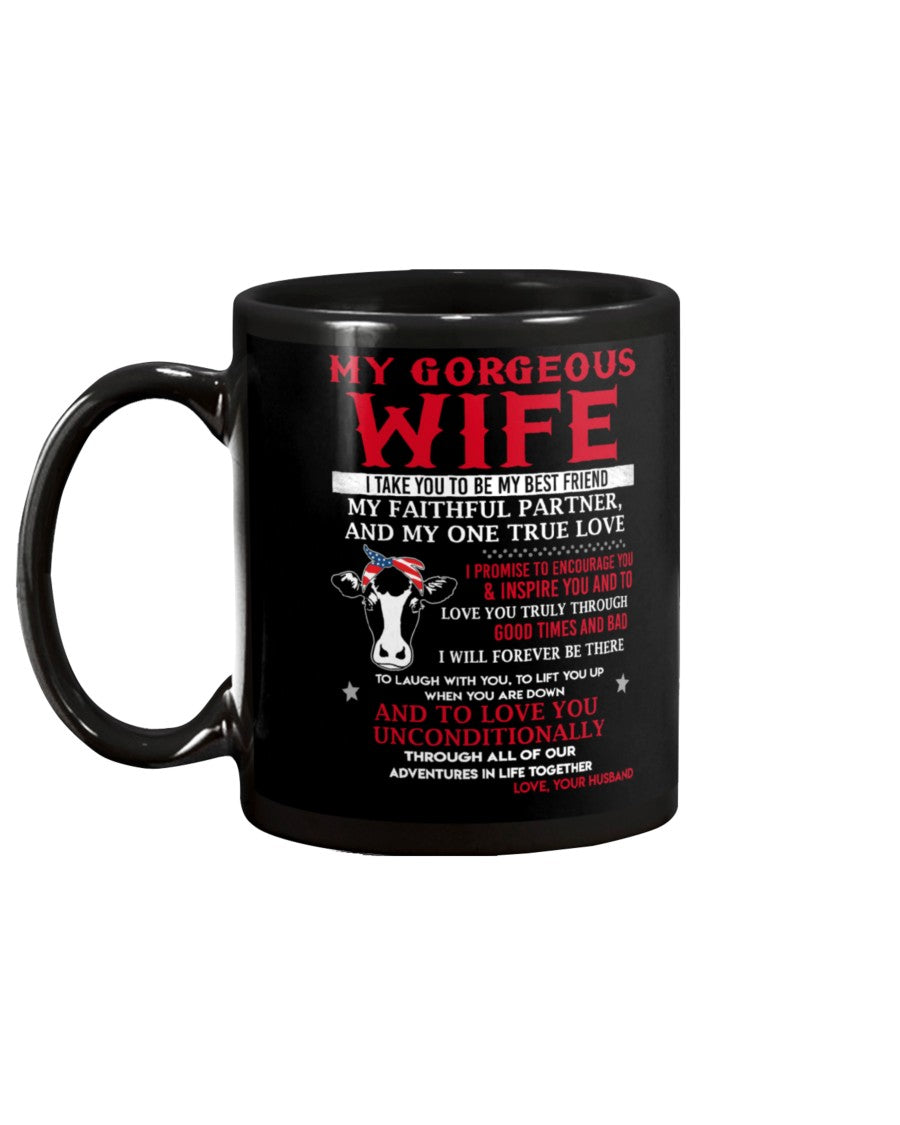 Faithful Partner True Love Wife Cow Mug