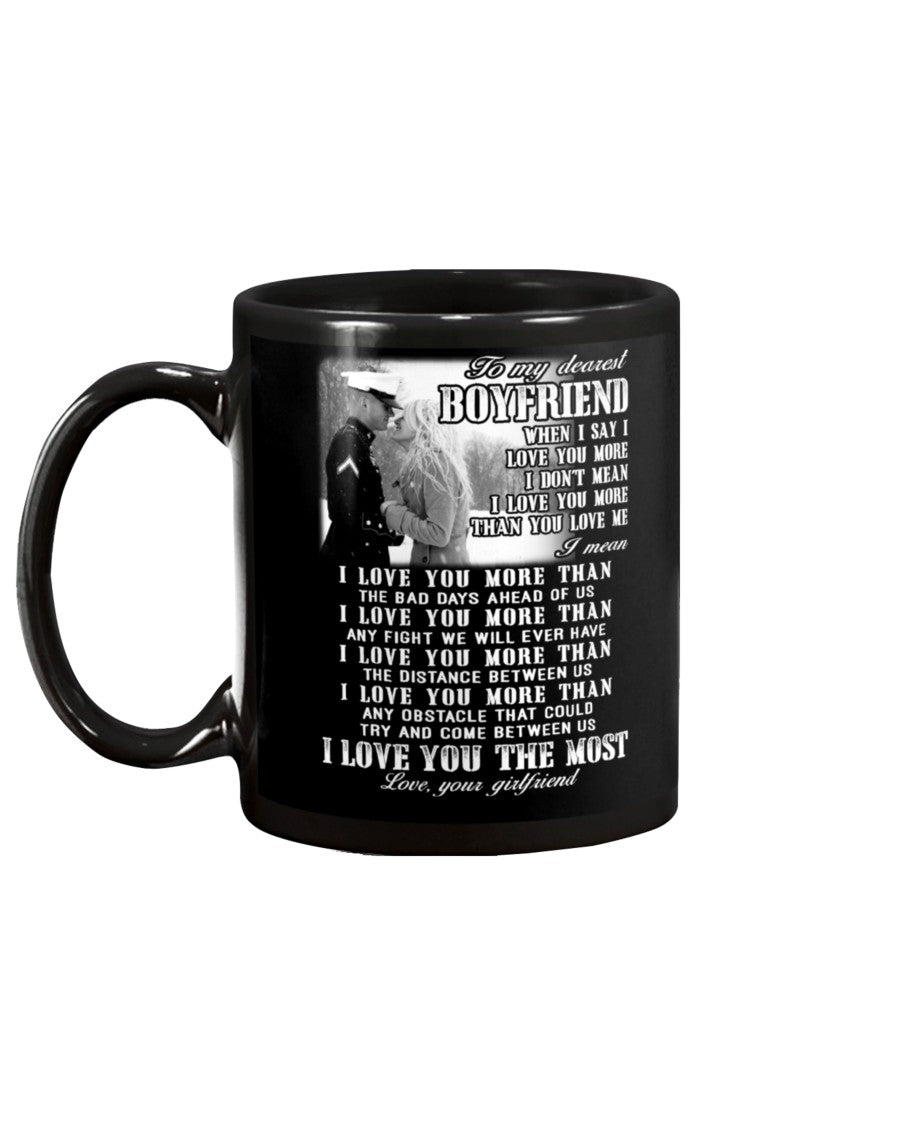 Marine Mug Boyfriend I Love You Most
