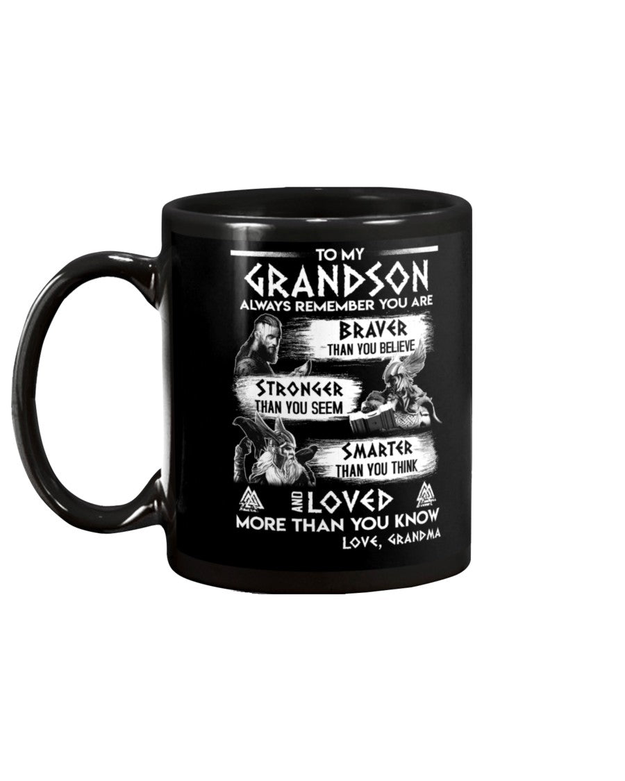 Always Remember Grandson Viking Mug