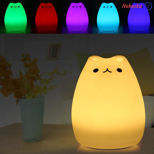 Luminet - Chat Lampe De Chevet Tactile