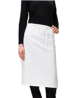 Wide Waist Apron NZ Made - White