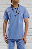 Pale Blue Unisex Scrub Top