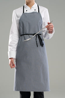 Bib Apron with Black/White Check