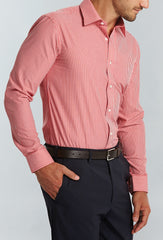 Men's Nano Stripe Shirt - Red