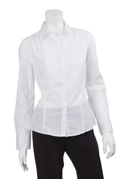 Ladies Long Sleeve, White Blouse