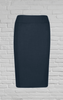 Polywool Z Stretch Ladies Pencil Skirt - Navy
