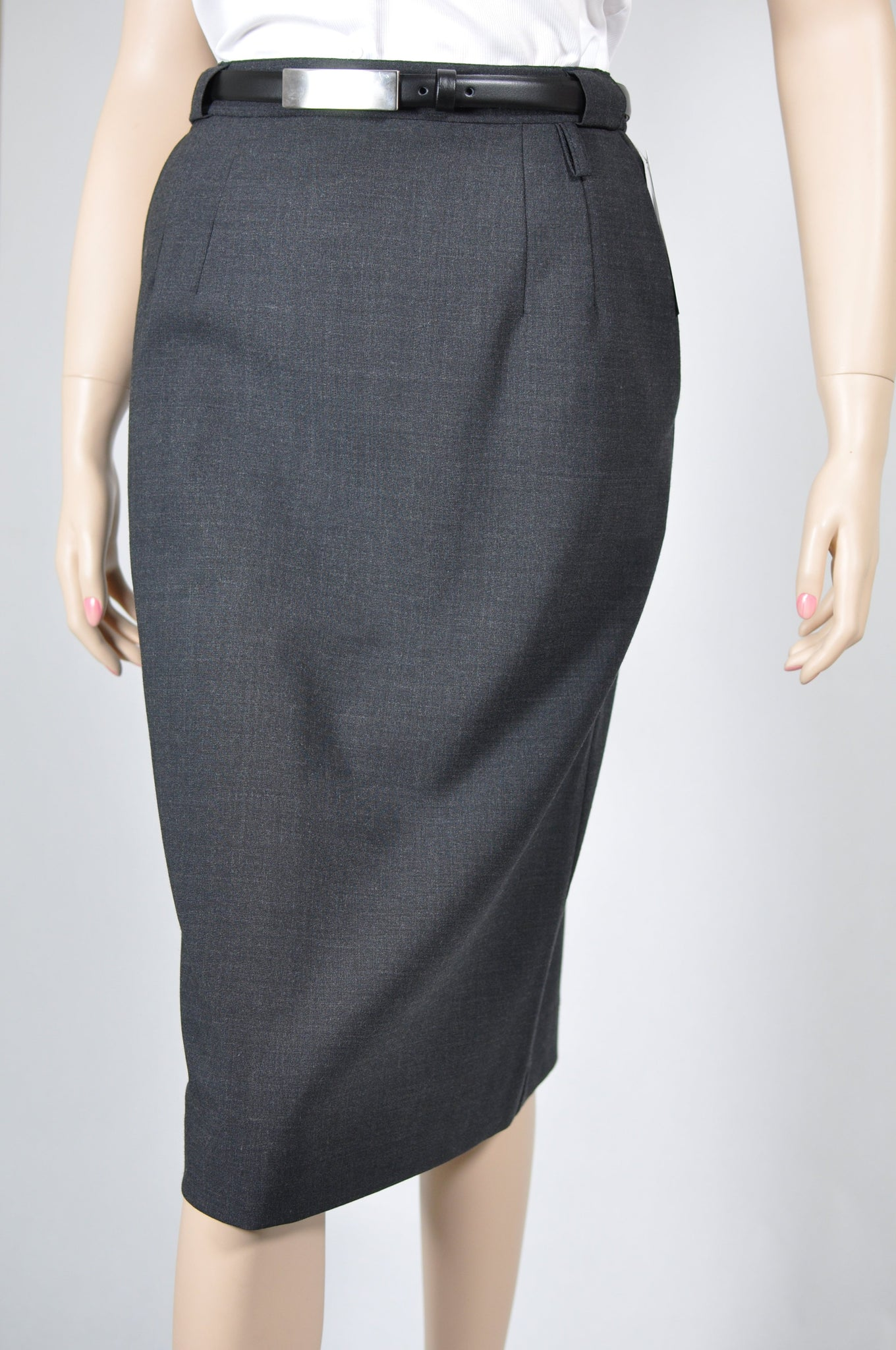 Polywool Z Stretch - Ladies Easyfit Charcoal Skirt