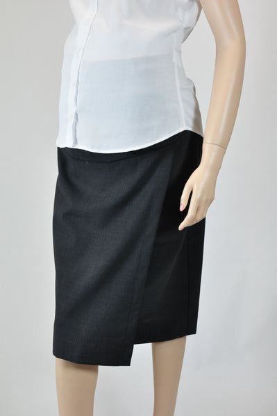 Polywool Z Stretch - Maternity Skirt - Charcoal