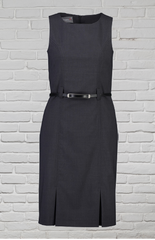 Ladies Sleeveless Dress - Charcoal