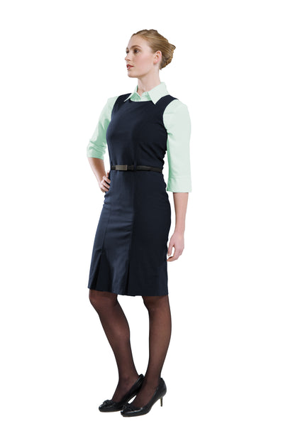 Ladies Sleeveless Dress - Navy
