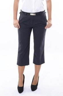 Ladies Easyfit 3/4 Length Trouser - Charcoal