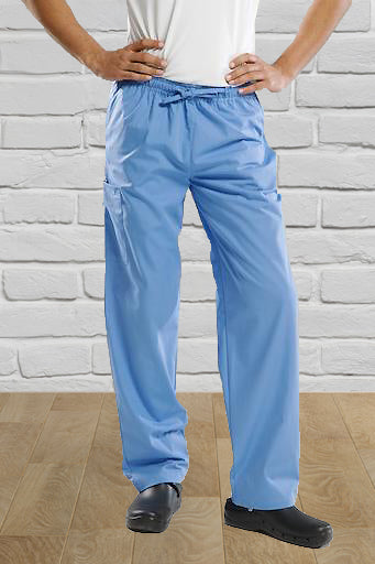 Pale Blue Unisex Scrub Trouser