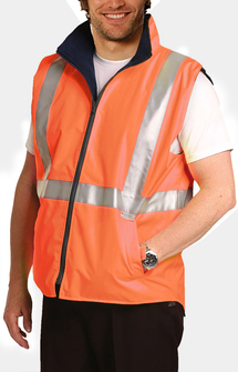 SW19A HiVis Reversible Safety Vest - Orange