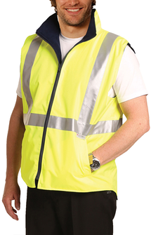 SW19A HiVis Reversible Safety Vest - Yellow