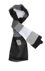 Cube Patterned Ladies Scarf - Black/White